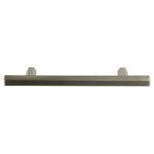 Design Deco Series Amerock Caliber Collection Zinc Handle in Satin Nickel, 181mm W x 32mm D x 13mm H (7-1/8'' W x 1-1/4'' D x 1/2'' H), Center to Center: 128mm (5-1/16'')