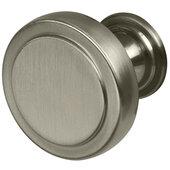 Design Deco Series Amerock Exceed Collection Zinc Knob in Satin Nickel, 35mm Diameter x 30mm D (1-3/8'' Diameter x 1-3/16'' D)