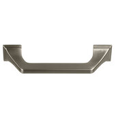Design Deco Series Amerock Exceed Collection Zinc Handle in Satin Nickel, 133mm W x 35mm D x 22mm H (5-1/4'' W x 1-3/8'' D x 5/16'' H), Center to Center: 96mm (3-3/4'')