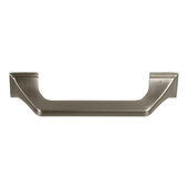 Design Deco Series Amerock Exceed Collection Zinc Handle in Satin Nickel, 152mm W x 35mm D x 22mm H (6'' W x 1-3/8'' D x 5/16'' H), Center to Center: 128mm (5-1/16'')