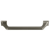 Design Deco Series Amerock Exceed Collection Zinc Handle in Satin Nickel, 184mm W x 35mm D x 22mm H (7-1/4'' W x 1-3/8'' D x 5/16'' H), Center to Center: 160mm (6-5/16'')