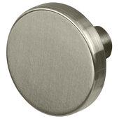 Design Deco Series Amerock Versa Collection Zinc Knob in Satin Nickel, 35mm Diameter x 25mm D (1-3/8'' Diameter x 1'' D)
