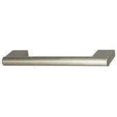Design Deco Series Amerock Versa Collection Zinc Handle in Satin Nickel, 119mm W x 33mm D x 13mm H (4-11/16'' W x 1-5/16'' D x 1/2'' H), Center to Center: 96mm (3-3/4'')