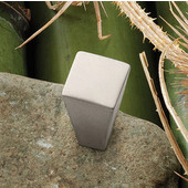 (5/8'' W) Modern Square Knob in Matt Nickel, 15mm W x 25mm D x 15mm H