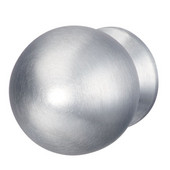 Aurora Collection (1-1/4'' Diameter) Matt Stainless Steel Round Knob, 30mm Diameter x 39mm D x 24mm Base Diameter