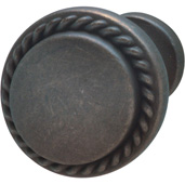 Americana Collection Knob in Oil-Rubbed Bronze, 30mm Diameter x 23mm D x 18mm Base Diameter, Pack of 5