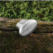 (1-3/8'' W) Modern Oval Knob in Brushed Nickel, 35mm W x 24mm D x 24mm H