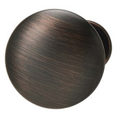 Chanterelle Collection Mushroom Knob in Satin Bronzed Copper, 30mm Diameter x 28mm D x 17mm Base Diameter