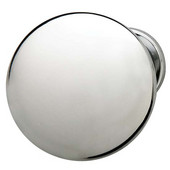Chanterelle Collection Mushroom Knob in Polished Chrome, 30mm Diameter x 28mm D x 17mm Base Diameter