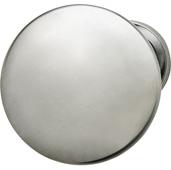 Chanterelle Collection Mushroom Knob in Satin Chrome, 30mm Diameter x 28mm D x 17mm Base Diameter