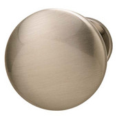 Chanterelle Collection Mushroom Knob in Brushed Nickel, 30mm Diameter x 28mm D x 17mm Base Diameter