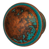 Luna Collection Knob in Rustic Copper, 36mm Diameter x 28mm D x 24 mm Base Diameter