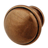 Luna Collection Knob in Copper, 36mm Diameter x 28mm D x 24mm Base Diameter
