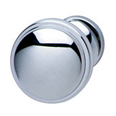 Bungalow Collection Knob in Polished Chrome, 36mm Diameter x 28mm D x 24mm Base Diameter