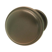 Luna/Bungalow Collection Knob in Dark Oil-Rubbed Bronze, 36mm Diameter x 28mm D x 24mm Base Diameter