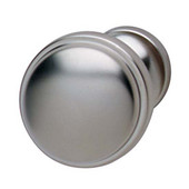 Luna/Bungalow Collection Knob in Matt Nickel, 36mm Diameter x 28mm D x 24mm Base Diameter
