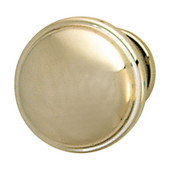 Bungalow Collection Knob in Polished Nickel, 36mm Diameter x 28mm D x 24mm Base Diameter