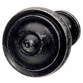 Havana Collection Circular Knob in Black Antique, 36mm Diameter x 25mm D x 21mm Base Diameter