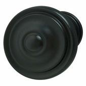 Havana/Savannah Collection Circular Knob in Dark Oil-Rubbed Bronze, 36mm Diameter x 25mm D x 21mm Base Diameter