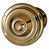 Havana Collection Circular Knob in Polished Nickel, 36mm Diameter x 25mm D x 21mm Base Diameter