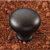 (1-1/4'' Diameter) Hollow Steel Mushroom Round Knob in Oil-Rubbed Bronze, 32mm Diameter x 31mm D x 16mm Base Diameter