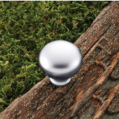 (1-1/4'') Diameter Mushroom Round Knob in Matt Chrome, 32mm Diameter x 31mm D x 16mm Base Diameter