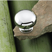 Windsor Collection 1-1/4'' Dia. Round Knob in Polished Chrome, 31mm Diameter x 29mm D x 19mm Base Diameter