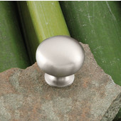 Windsor Collection 1-1/4'' Dia. Round Knob in Nickel Brushed, 31mm Diameter x 29mm D x 19mm Base Diameter