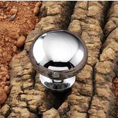 (1-1/4'' Diameter) Steel Mushroom Round Knob in Polished Chrome, 31mm Diameter x 29mm D x 19mm Base Diameter