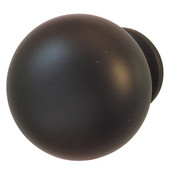 (1-1/4'' Diameter) Steel Mushroom Round Knob in Dark Oil-Rubbed Bronze, 31mm Diameter x 29mm D x 19mm Base Diameter