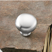 (1-1/4'') Diameter Mushroom Round Knob in Satin Chrome, 31mm Diameter x 29mm D x 19mm Base Diameter