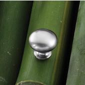 (1-1/4'' Diameter) Steel Mushroom Round Knob in Brushed Nickel, 31mm Diameter x 29mm D x 19mm Base Diameter