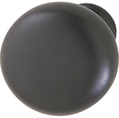 (1-1/4'') Diameter Mushroom Round Knob in Matt Black, 31mm Diameter x 28mm D x 15mm Base Diameter