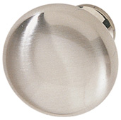 (1-1/4'') Diameter Mushroom Round Knob, in Stainless Steel, 31mm Diameter x 28mm D x 15mm Base Diameter