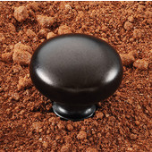 (1-1/4'') Diameter Mushroom Round Knob in Oil-Rubbed Bronze, 32mm Diameter x 27mm D x 16mm Base Diameter