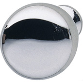 H�fele Chelsea Collection Smooth Round Knob in Polished Chrome, 31mm Diameter x 28mm D x 15mm Base Diameter