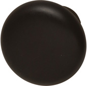 Häfele Chelsea Collection Smooth Round Knob in Dark Oil-Rubbed Bronze, 31mm Diameter x 28mm D x 15mm Base Diameter