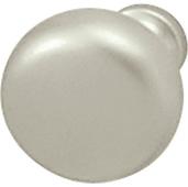 (1-1/4'') Diameter Mushroom Round Knob in Matt Nickel, 31mm Diameter x 28mm D x 15mm Base Diameter