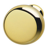 H�fele Chelsea Collection Smooth Round Knob in Polished Brass, 31mm Diameter x 28mm D x 15mm Base Diameter