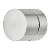 Cornerstone Series Voyage Collection (1-1/16''), Diameter Knob in Matt Stainless Steel, 28mm Diameter x 28mm D