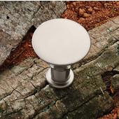 (1-1/4'' Diameter) Modern Round Knob in Matt Nickel, 30mm W x 31mm D x 15mm Base Diameter