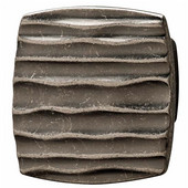 Strata Collection Knob in Antique Pewter, 42mm W x 25mm D x 42mm H
