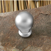 (3/4'') Diameter Round Knob in Matt Nickel, 19mm Diameter x 25mm D x 13mm Base Diameter, Available in Multiple Sizes