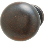 (1-1/4'' Diameter) Modern Mushroom Round Knob in Oil-Rubbed Bronze, 31mm Diameter x 30mm D x 20mm Base Diameter