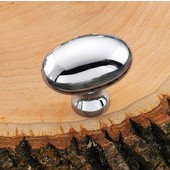 (1-3/8'' W) Oval Knob in Polished Chrome, 35mm W x 35mm D x 23mm H