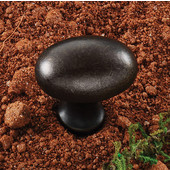 (1-1/4'' W) Oval Knob in Oil-Rubbed Bronze, 30mm W x 30mm D x 19mm H