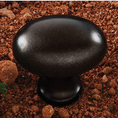(1-3/8'' W) Oval Knob in Oil-Rubbed Bronze, 35mm W x 35mm D x 23mm H