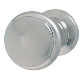 (1-1/4'' Diameter) Modern Round Knob in Polished & Brushed Nickel, 31mm Diameter x 26mm D x 26mm Base Diameter