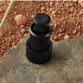 (3/4'') Diameter Plastic Push on Round Knob in Black, 21mm Diameter x 12mm (Opened) or 2mm (Closed) D x 24mm Base Diameter