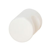 Hewi Collection Polyamide Knob in Pure White, 23mm Diameter x 29mm D